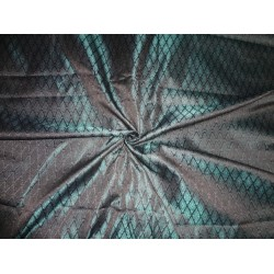 Spun  BROCADE FABRIC Green & Black 44""
