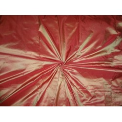 "SILK TAFFETA FABRIC Iridescent Deep Red x Gold Shot colour 54""TAF219[2]"