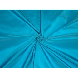 "SILK TAFFETA FABRIC Deep Turquoise Blue colour iridescent 54""taf#223"