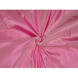 Pure SILK TAFFETA FABRIC Lipstick Pink x Ivory color 5.90 yards continuous piece