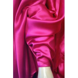 "100% pure Silk Satin fabric 44"" wide-fuschia"