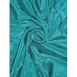 Dark Kingfisher Green soft silk crepe fabric dot jacquard 44""