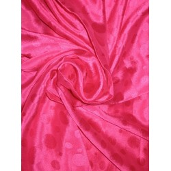 Pink soft silk crepe fabric dot jacquard 44""