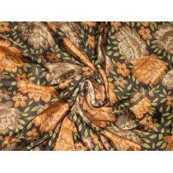 RICH Floral Printed HABOTAI SILK Fabric