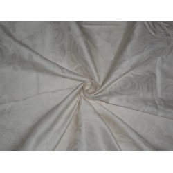 Silk taffeta fabric with jacquard~Ivory color 54""