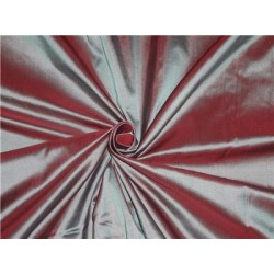 "Mary Ann"" Plain Silk 44"" Rich Grey x Carnation Red 50 GRAMS SILKS"