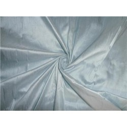 "100% PURE SILK DUPIONI FABRIC BABY BLUE 54"" WITH SLUBS"