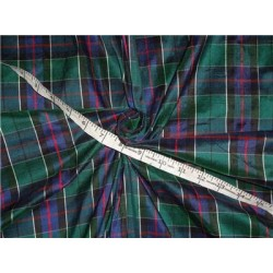 "Scottish Tartan Check ~ Silk Dupioni Fabric~Width 54 "" sold by the yard"