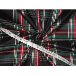 "Scottish Tartan Check ~ Silk Dupioni Fabric~Width 54"" sold by the yard"