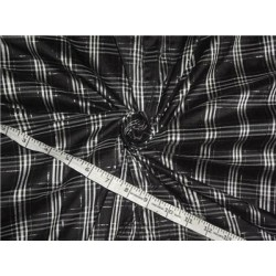 Silk Dupioni Plaids - Black / Silver Lurex