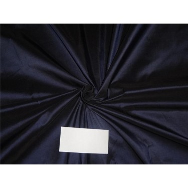 100% SILK TAFFETA FABRIC DARK BLUE  54""