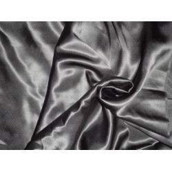 80 GRAM SILK SATIN CHARCOAL GREY 44""