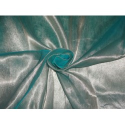SHEER BLUE / GOLD TISSUE SILK ORGANZA 44*