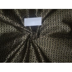 Brocade Fabric Black x Gold Color 48""