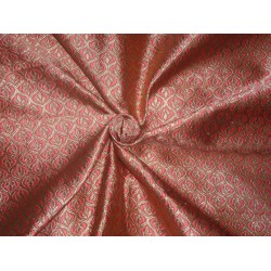 Brocade Fabric Bubblegum Pink x Gold Color 48""
