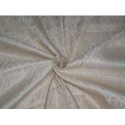 Brocade Fabric Cream x Metallic Gold Color 44""