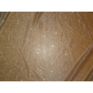 shimmer net with diamond foil print fabric