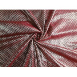 "BROCADE FABRIC BLOOD RED X METALLIC GOLD 44""CUT PCS 2.65 YRD @ 45$"