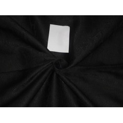 Brocade fabric Jet Black Color 44""