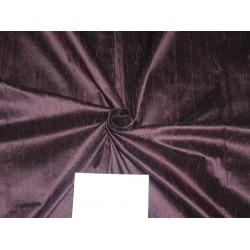 "100% PURE SILK DUPIONI FABRIC DEEP AUBERGINE 54""WITH SLUBS*"