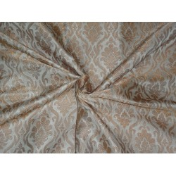 BROCADE FABRIC IVORY X METALLIC NUDE COLOR 44""