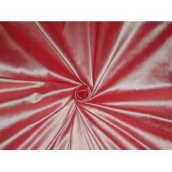 "100% PURE SILK DUPIONI FABRIC RED X PINK 54""*"