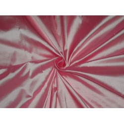100% PURE SILK DUPIONI FABRIC CANDY PINK 54""