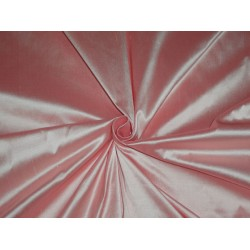 100% PURE SILK DUPIONI FABRIC LIGHT SALMON 54