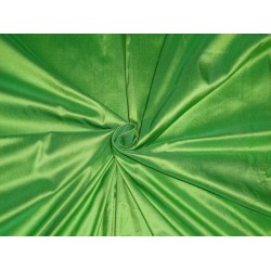 100% PURE SILK DUPIONI FABRIC DARK LEAF GREEN 54