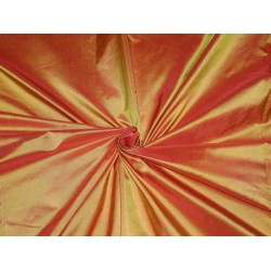 "SILK TAFFETA FABRIC 54"" FIREFLY COLOR"