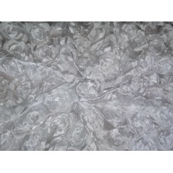 """POLYESTER SATIN FABRIC 44"""" LIGHT IVORY COLOR"""
