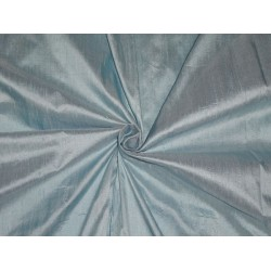 "100% PURE SILK DUPIONI FABRIC BLUE COLOR 54"" WITH SLUBS"