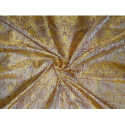 "BROCADE FABRIC GOLD,PURPLE X BEIGE COLOR 44""INCH"