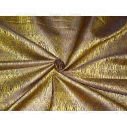 "BROCADE FABRIC GOLD,METALLIC GOLD X BLACK COLOR 44""INCH"