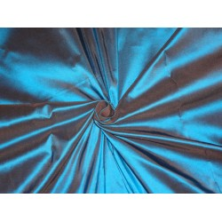 "100% pure silk taffeta fabric deep blue x brown 54"" 150 gram"