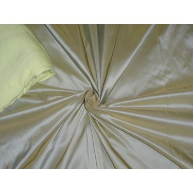 "100% PURE SILK TAFFETA FABRIC BLUE X YELLOW 54"" -40 mm"
