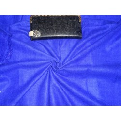 "ROYAL BLUE COLOR MATKA SILK FABRIC 44""-HANDLOOM WOVEN,2 PLY MATKA"