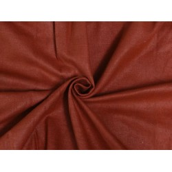 "BRICK RED COLOR MATKA SILK FABRIC 44""-HANDLOOM WOVEN,2 PLY MATKA"