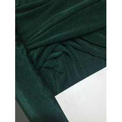 Crushed polyester satin fabric Emerald green  color 59''wide FF11[7] by the yard