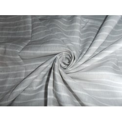 "LINEN FABRIC WITH GREY,SILVER,WHITE STRIPES 54"" CUT LENGTH OF6.80 YARDS"