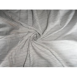 LINEN FABRIC WITH GREY,SILVER,BLUE STRIPES 60""