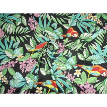 POLY CREPE SUMMER COOL FABRIC JUNGLE PRINT 44""