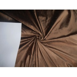 "100% PURE SILK DUPIONI FABRIC BROWN X BLACK 44"" WITH SLUBS"