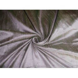 "100% PURE SILK DUPIONI FABRIC GREEN X PINK 54"" WITH SLUBS"