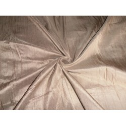 "100% PURE SILK DUPIONI FABRIC LIGHT SAND 54"" WITH SLUBS"