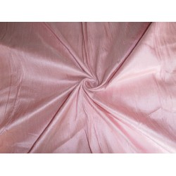 "100% PURE SILK DUPIONI FABRIC DUSTY ROSE PINK 54"" WITH SLUBS"