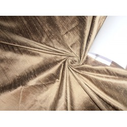 "100% PURE SILK DUPIONI FABRIC GOLD X BLACK 54"" WITH SLUBS"