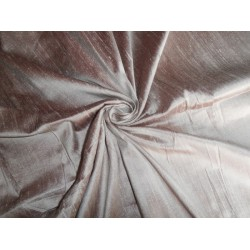 "100% PURE SILK DUPIONI FABRIC LIGHT GOLD X MAROON 54"" WITH SLUBS"