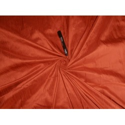 "100% PURE SILK DUPIONI FABRIC DUSTY ORANGE 54"" WITH SLUBS"