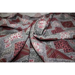 "40's x 40's tencel THE ENVIRONMENT FRIENDLY FABRIC 58"" wide- RED DIGITAL PRINT"